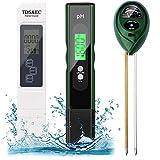 Digital PH Meter, TDS Meter Soil PH Tester Combo, with Moisture Light PH Test...
