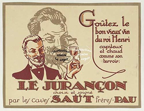 Herbé TM Le JURANçon Wein Beut Rvhe Poster / Kunstdruck, 50 x 70 cm (auf Papier 60 x 80 cm) d1 Poster Vintage/Antik/Retro