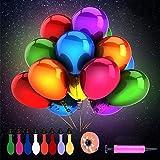 Herefun 50 Piezas Globos de LED Colores Luces para Decoración de Boda Habitación Fiesta Partido Comunión Cumpleaños Navidad Reunión Ceremonia