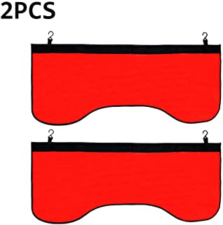 2 PCS Red Automotive Magnetic Leather Fender Protector Side Fender Cover Wing Cover Car Gripper Mechanic Work Mat Pad, 43.3inch x 17.7inch