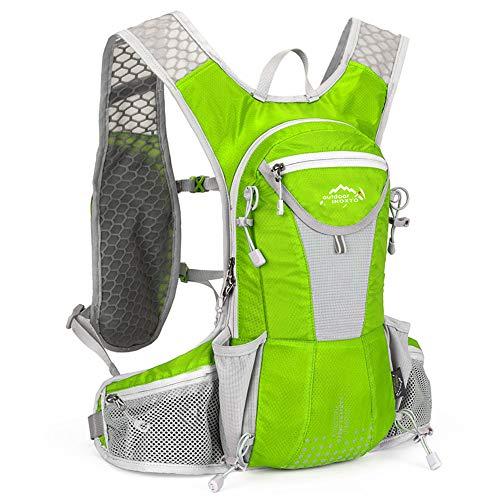 SIJIYIREN ハイドレーションバッグ ランニングバッグ サイクリングバッグ 自転車バックパック リュック 12L 全10色 (グレーン)
