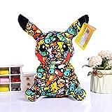 WYYHYPY 20cm Pokemon Tissu Art Graffiti Pikachu poupée poupée Peluche Jouet Cadeau pour Enfants Peluche Pokemon