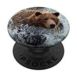 Bear Wild animals lovers Grizzly Bear Gift PopSockets PopGrip: Swappable Grip for Phones & Tablets