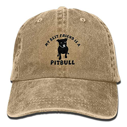 errterfte My Best Friend is A Pit Bull Personalized Hat Cowboy Hat Personalized Hat Comfortable Adjustable