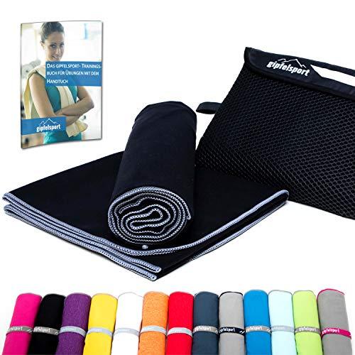 Mikrofaser Handtuch Set - Microfaser Handtücher für Sauna, Fitness, Sport I Strandtuch, Sporthandtuch I 1x XL(180x80cm) I Anthrazit