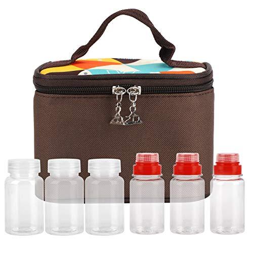 Omabeta Picknickkorb Retro Gemusterte Flaschen Set Kann zum Grillen wiederverwendet Werden