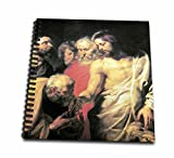 3dRose db_130057_1 Christ's Charge to Peter by Peter Paul Rubens-Drawing Book, 8 by 8-Inch