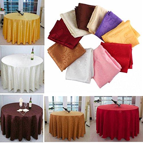Bazaar 200 cm Polyester Absorbens Ronde Tafelkleed Voor Hotel Restaurant Bruiloft Decor