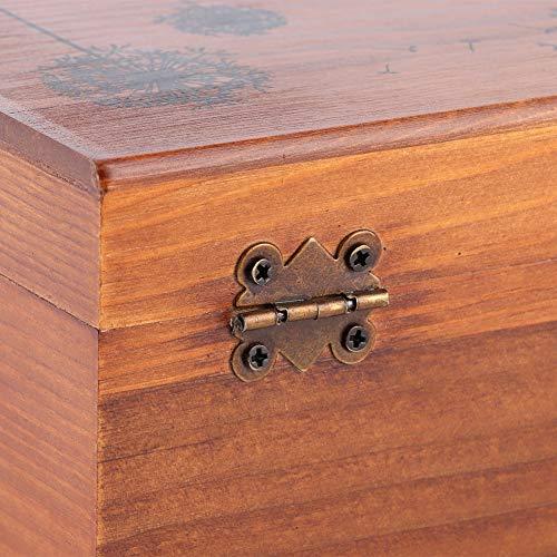 Caja de costura de madera, caja de costura de madera vintage para el hogar, organizador de caja de almacenamiento de hilo de aguja, herramientas de costura de bricolaje(Caja vacia)