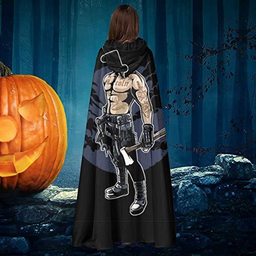 AISFGBJ Abraham Lincoln Cinturn de Trabajo para Tatuaje, Unisex, para Navidad, Halloween, Bruja, Caballero, con Capucha, Bata de Vampiros, Capa para Disfraz de Cosplay