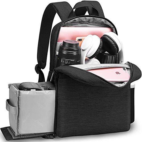 Caden Kamerarucksack, DSLR-Tasche für Canon, Nikon, Sony, spiegellos und Zubehör, Anti-Diebstahl-Foto-Tasche bis zu 14 Zoll Laptop