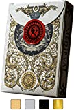 Medieval Gold Playing Cards with Unique Seal, Stand Out with Hand Illustrated Deck of Cards, Cool Poker Cards, Black Playing Cards, Unique Illustrated Designs for Kids & Adults, Playing Card Decks