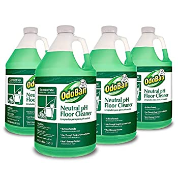 OdoBan Professional Series No Rinse Neutral pH Floor Cleaner Concentrate 128.15 Fl Oz Pack of 4