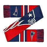 Forever Collectibles New England Patriots Scarf Colourblock Big Logo -