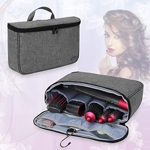 Teamoy Reise Tasche Für Dyson Airwrap Styler, Tragen Hülle für Dyson Airwrap Frisur-Werkzeug und umfangreichem Zubehör, Grau