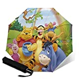 Winnie The Pooh Automatic Tri-Fold Umbrella Unisex Printed Umbrella Manual Umbrella Portable Umbrella