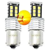 MCK Auto - Reemplazo para PY21W 581 BAU15S LED CanBus Conjunto de bombillas naranjas muy claras y sin errores compatibles con F30 F31