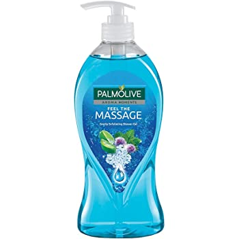 Palmolive Body Wash Feel The Massage, 750ml Pump, Exfoliating Shower Gel with 100% Natural Thermal Minerals