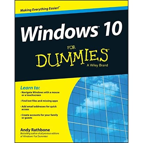 Amazon Com Windows 10 For Dummies 9781119049364 Andy Rathbone Books