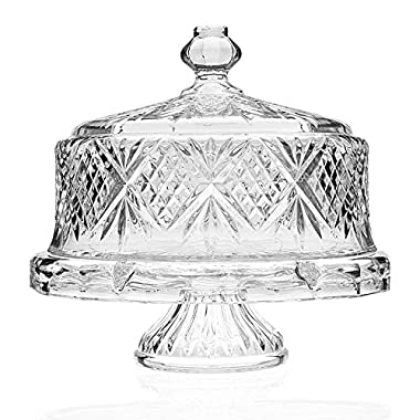 Shannon Crystal Cake Stand/Dome 4 in 1