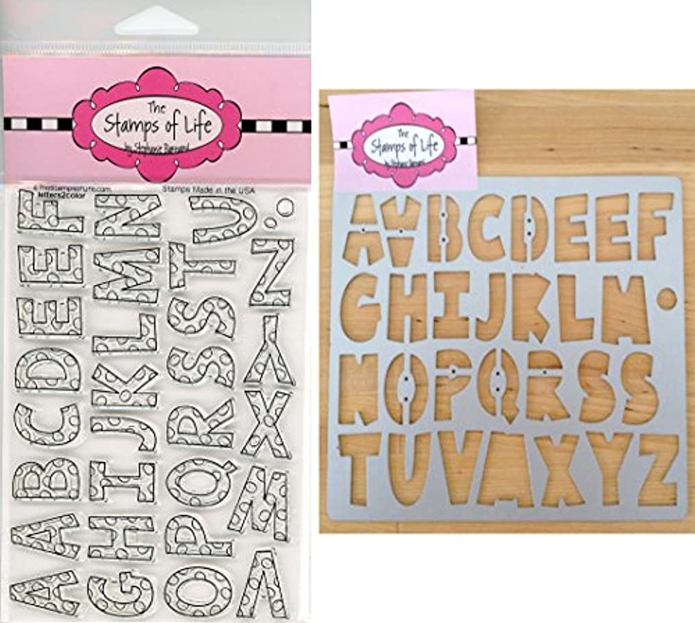 Fun Color Alphabet Stamps and Dies for Scrapbooking and Card-Making by The Stamps of Life - Letters2Color and ABC Die-Cuts