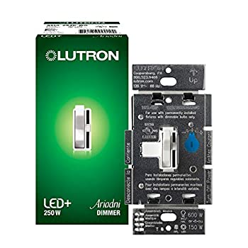 Lutron Toggler LED+ Dimmer   for Dimmable LED Halogen and Incandescent Bulbs   Single-Pole or 3-Way   AYCL-253P-WH   White