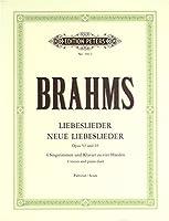 ブラームス: 愛の歌 Op.52、新しい愛の歌 Op.65(独語)/ペータース社/合唱作品