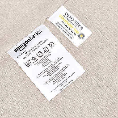 Amazon Basics Biber-Bettwäsche-Set mit...