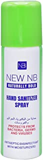 NEW NB Naturally Bold Antiseptic & Disinfectant Hand Sanitizer Spray - 60 ml