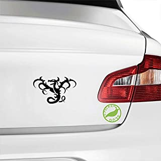 Stickerslug Abstract Middle Ages Folklore Fire Breathing Dragon Creature Gloss Vinyl Decal Sticker for Cars, Trucks, Vans, Windows, Crafts e20649 (Black, 5 inch)