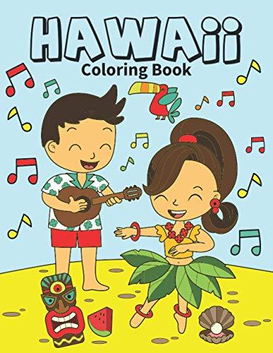 Hawaii Coloring Book: Hawaiian coloring for kids