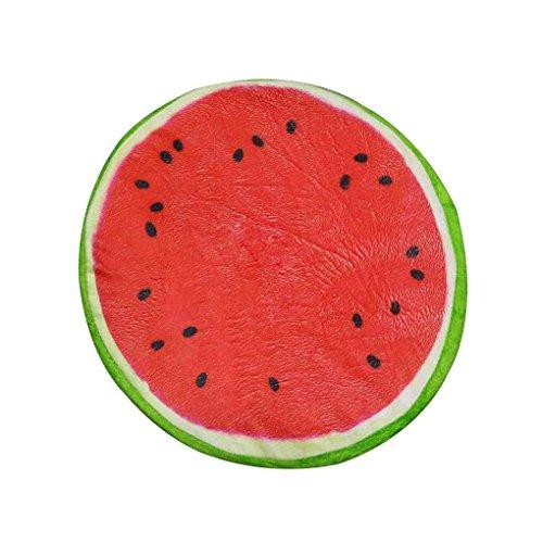 Aiming 3D Creative Fruit en Forma de Almohada Asiento cojín sofá Almohada Juguetes de Peluche Regalos Sandía