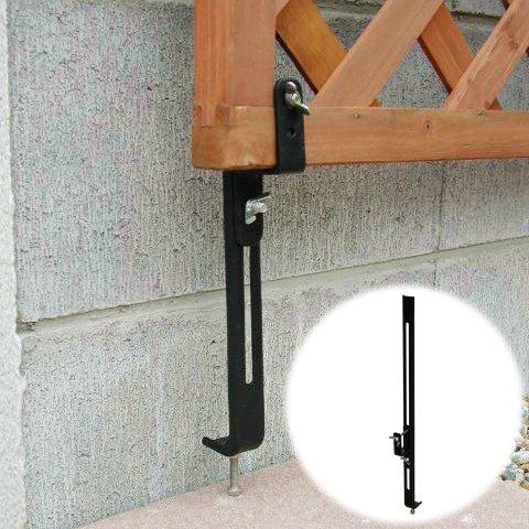 ガーデンガーデン ラティスや木製フェンスをコンクリートフェンスに固定する金具 下部用 1個 [35mm枠対応] ネジ付 LV-CF40