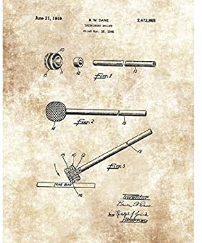 Marimba Mallet Instrument Wall Art Drawing - 11 x 14 Unframed Patent Print - Great Gift for Musicians and Percussionists