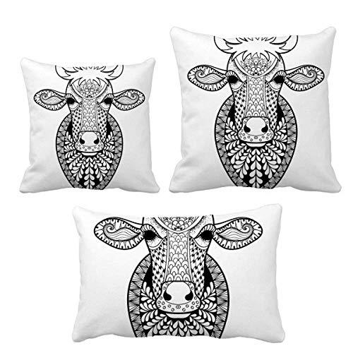 DIYthinker Animal Big Cow Picture - Juego de cojines, diseño de animales