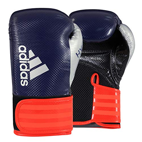 adidas Hybrid 65 Blue/Red/Silver Boxing Gloves - 12oz