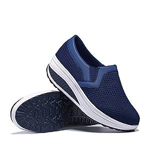 Donne Scarpe da Ginnastica Sportivo Mesh Respirabile Lacci Sneakers da Corsa Air Cushion 35-42 EU Donna Scarpe da Running Sportive Corsa Sneakers Ginnastica Outdoor Multisport Shoes