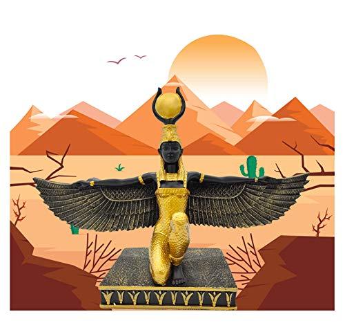 Uziqueif ISIS Figuras Egipcias,Diosa del Amor, Busto Y Estatua De La Diosa del Amor En El Antiguo Egipto,Estatuas Decorativas,Diosa Egipcia Alada ISIS Estatua Mitología De La Deidad,Oro