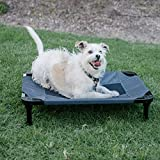 Lucky Dog 30'' Elevated Pet Bed Cot | Indoor & Outdoor Use | Gray