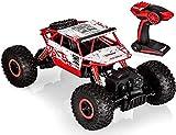 Top Race Coche teledirigido RC 4x4 Monster Truck | Juguete de Control Remoto 2.4Ghz| 4WD Buggy Race Crawler Coches teledirigidos | Juguetes para nios Adulto TR-130 (Rojo)