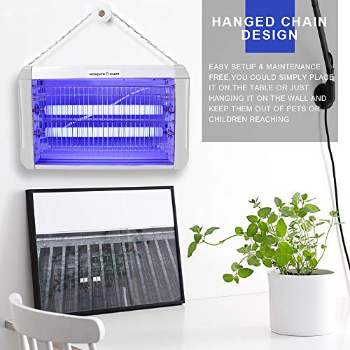 Mosquito Killer LETOUR 20W Electronic Bug Zapper Attracts and Kills Flies, Wasps, Moths, Cockroaches, Beetles and Bugs for Indoor Residential & Commercial