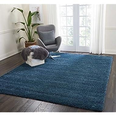 Nourison MSG01 Malibu Shag Area Rug, 7'10  x9'10, BLUE