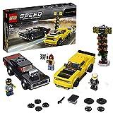 LEGO SpeedChampions 2018DodgeChallengerSRTDemone1970DodgeChargerR/T, Set di Costruzioni di Macchine da Corsa, Veicoli Giocattolo per Ragazzi, 75893