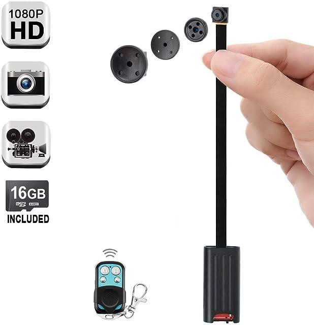 1080P HD Pequeña Encubierto Botón Cámara Espía Vídeo Grabadora con Funciones de Detección de Movimiento y Toma de Fotos 6 Horas Video Grabación de Larga Duración