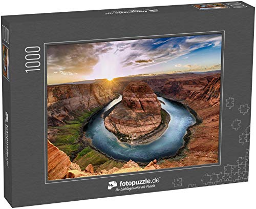 fotopuzzle.de Puzzle 1000 Teile Sonnenuntergangsmoment in der Horseshoe-Kurve Grand Canyon Nationalpark Colorado River (1000, 200 oder 2000 Teile)