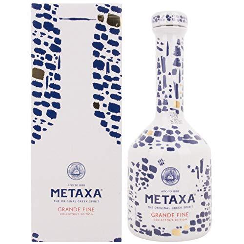 Metaxa GRANDE FINE Collector's Edition Keramikflasche + GB 40,00% 0.7 l.