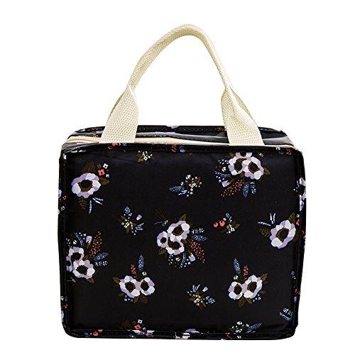 iKulilky Sac Repas Lunch Bag Portable Isotherme Sac Imperméable Oxford Tissu D'isolation Fraîche Sac Boîte à Lunch Paquet Sac à Lunch pour Le École et Le Travail,#6