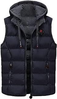 Men Outerwear Vests Beautyfine Autumn Winter Coat Padded Cotton Warm Hooded Thick Tops Jacket Waistcoat