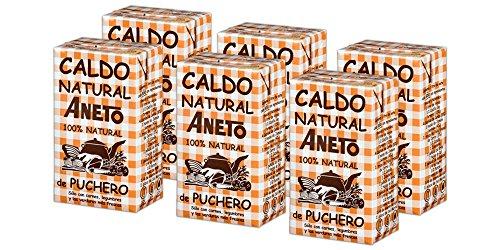 Aneto 100% Natural - Caldo de Puchero - caja de 6 unidades de 1 litro