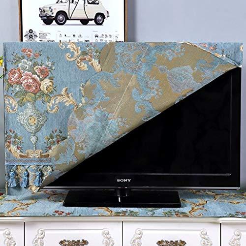 HBLZG 32 - 75  Stile Europeo TV Rivestimento in Tessuto Tessuto setoso, Surround Tridimensionale Resistente all Acqua Polvere, Traspirante, dissipazione Calore (Color : F, Size : 52 Inches)